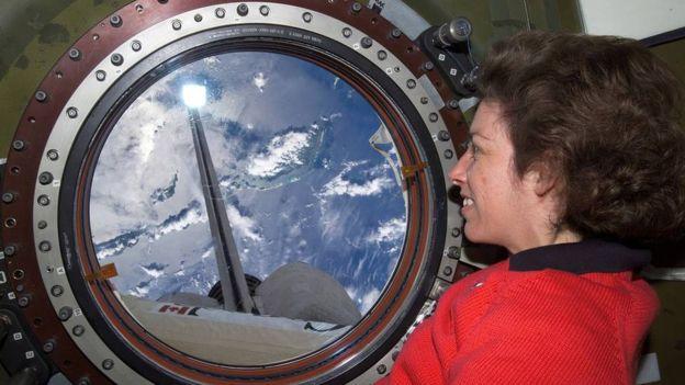 Ellen Ochoa. The International Space Station