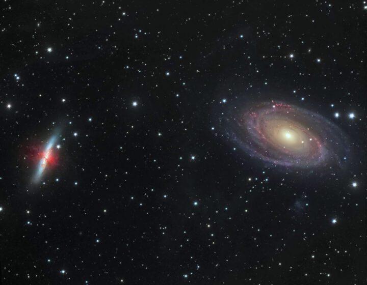 Galaxy m81m82. Star Galaxy