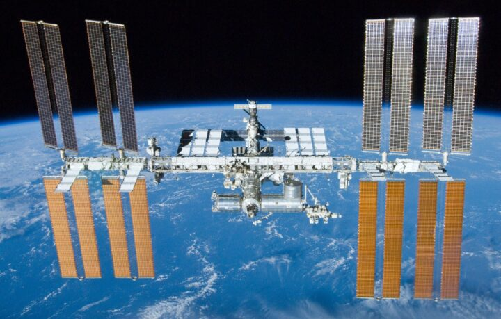 ISS Earth. The International Space Station