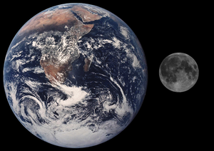 Moon Earth. The Moon is satellite of the Earth