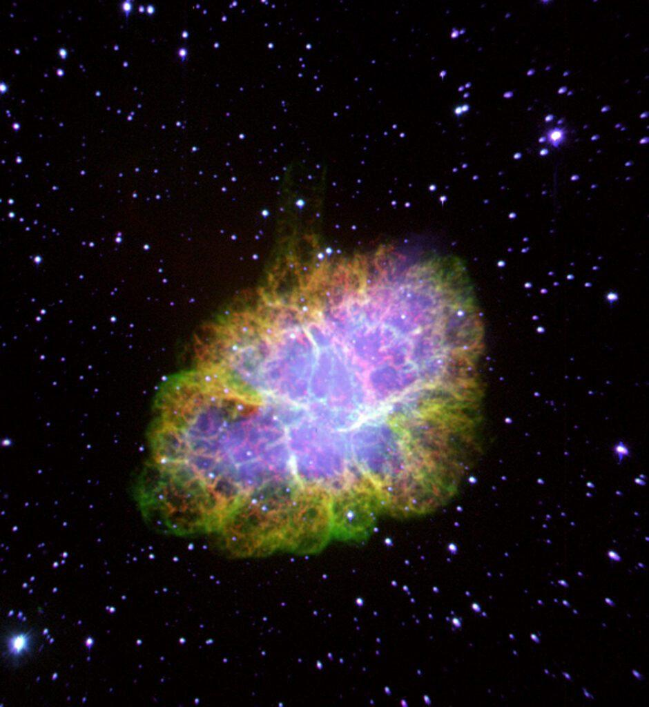 Crab. Nebulae inside the galaxies