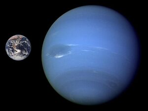 Neptune the distant planet and the Earth