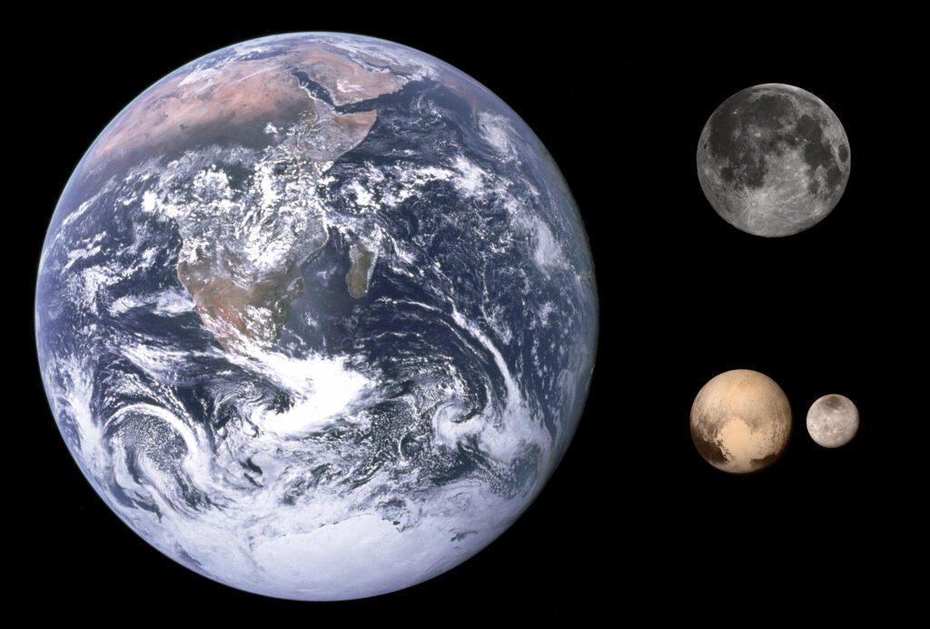 Pluto size Earth