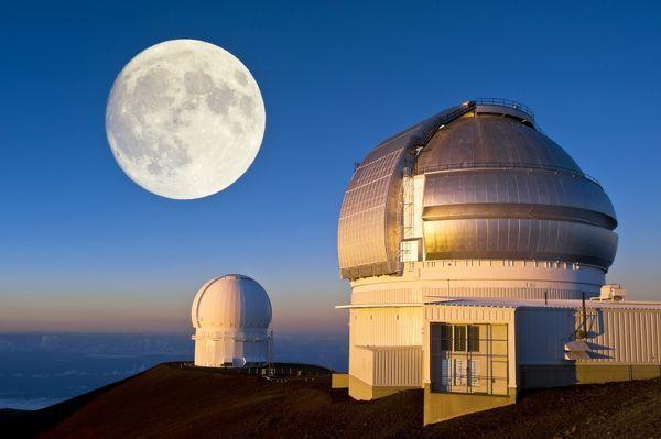 Gemini North. Optical telescopes
