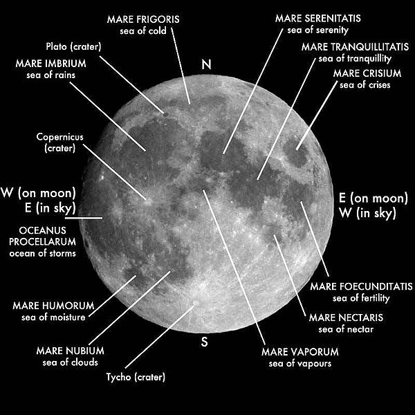 Moon craters. Tips for observing the Moon