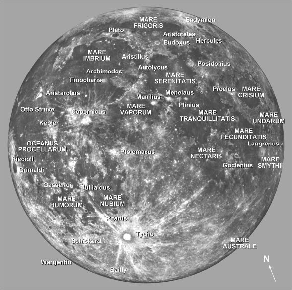 Moon details. Tips for observing the Moon