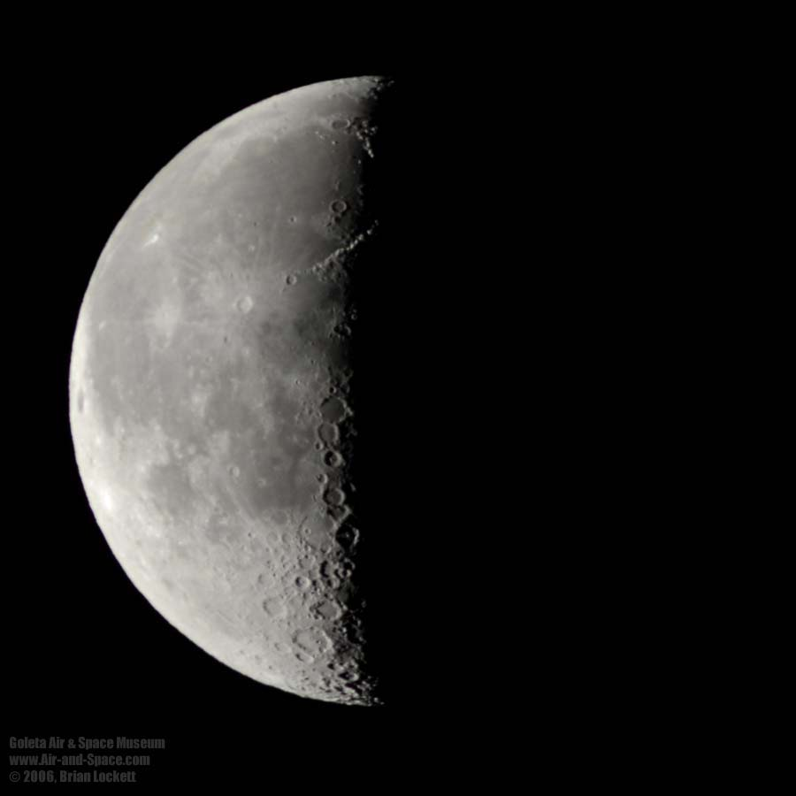 Moon quarter. Tips for observing the Moon