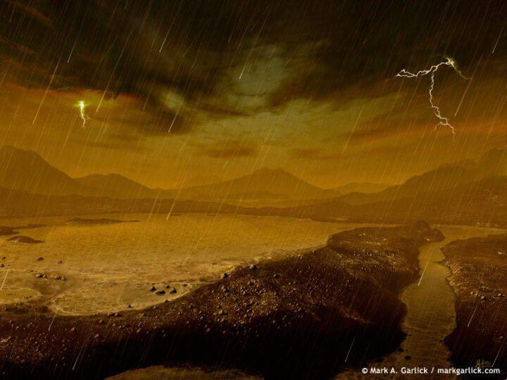 Titan rains