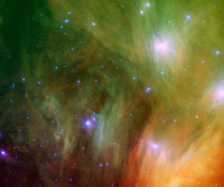 Pléyades una de las nebulosas en las galaxias
