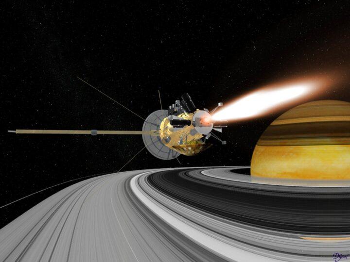 Saturno estudiado por Huygens astrónomo holandés