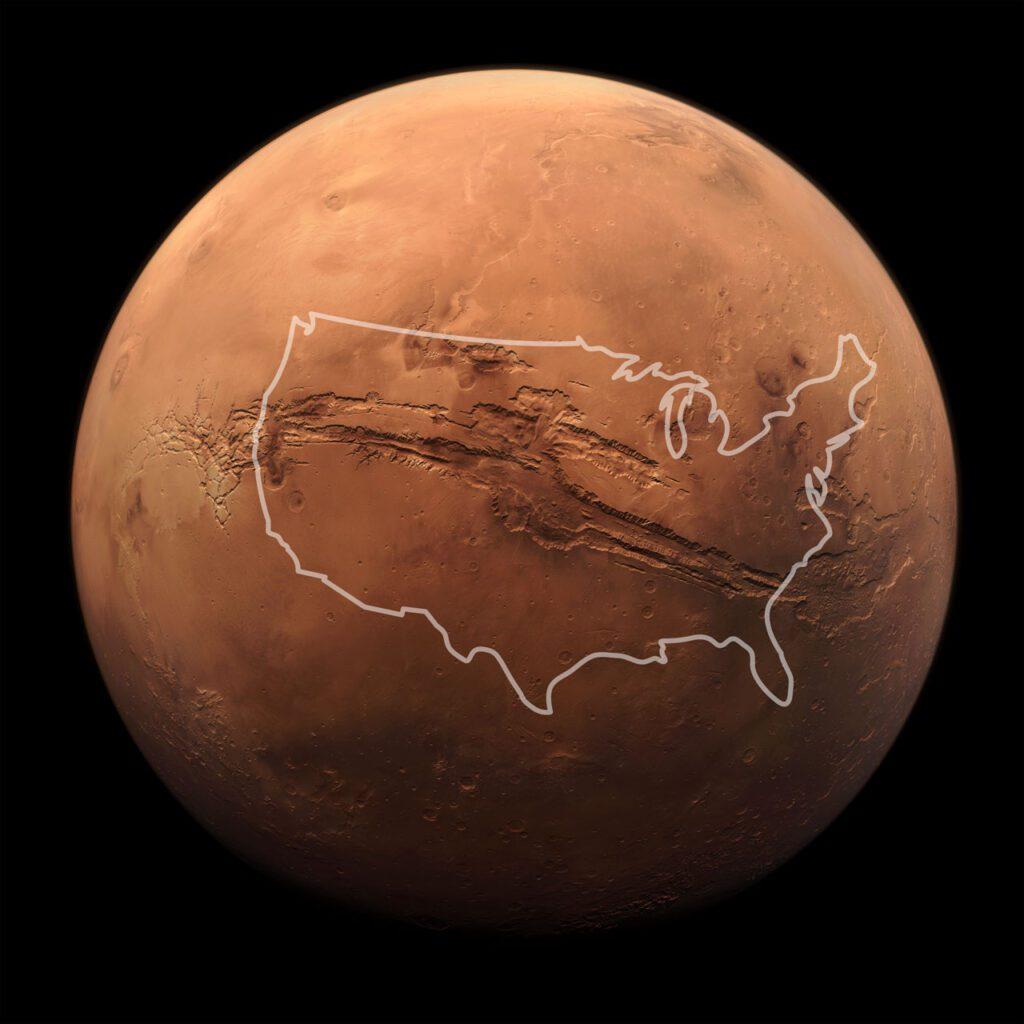 Marte superficie. Marte el planeta rojo