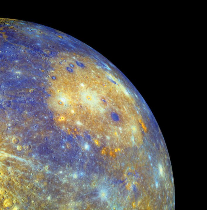 Fractura en Mercurio planeta cercano al Sol