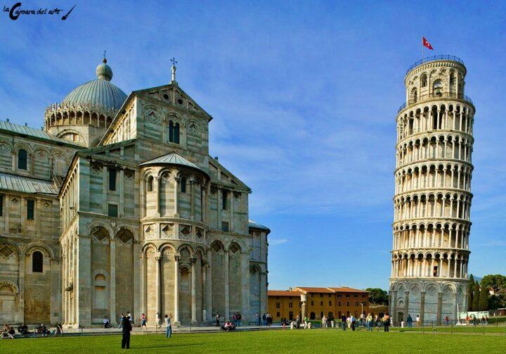 Torre de Pisa en donde Galileo astrónomo italiano realizó algunos de sus experimentos