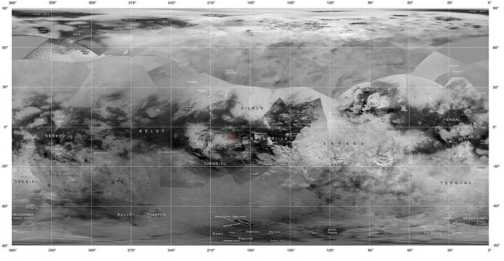 Titán geología. Titán luna de Saturno